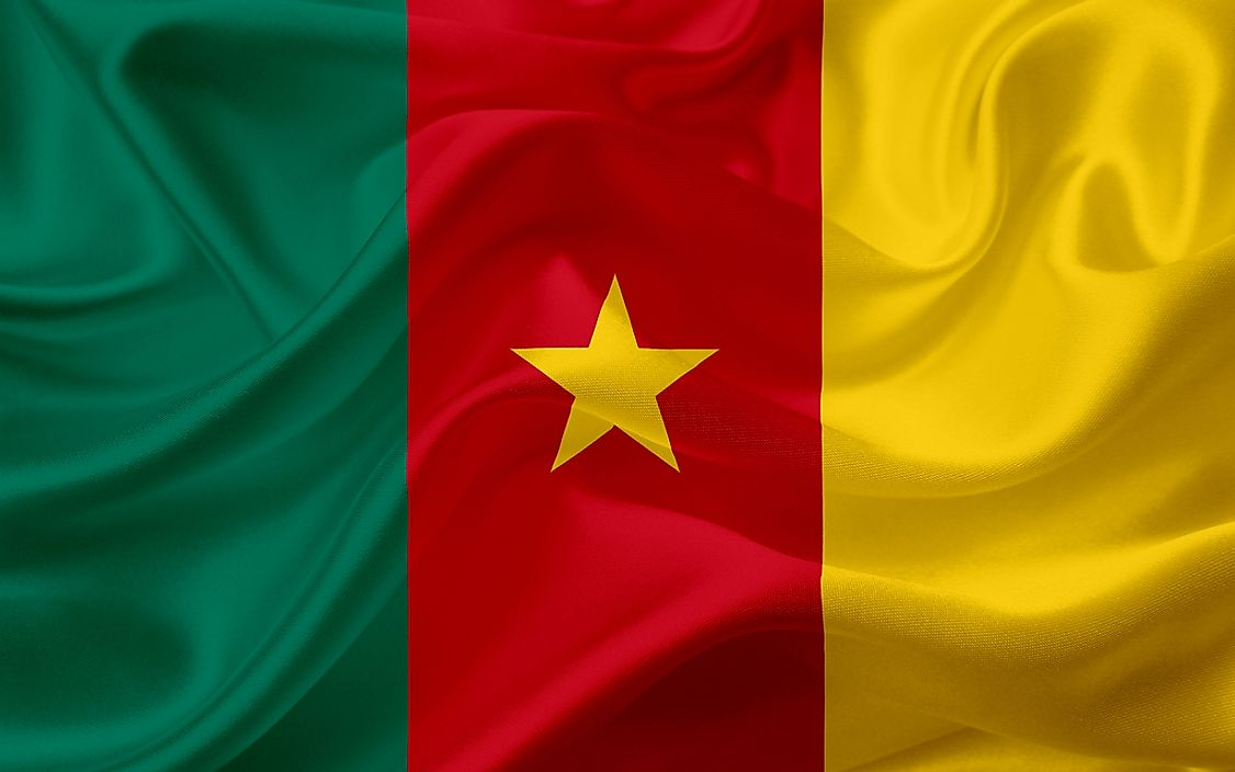 The flag of Cameroon.
