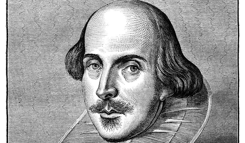 Illustration of William Shakespeare.