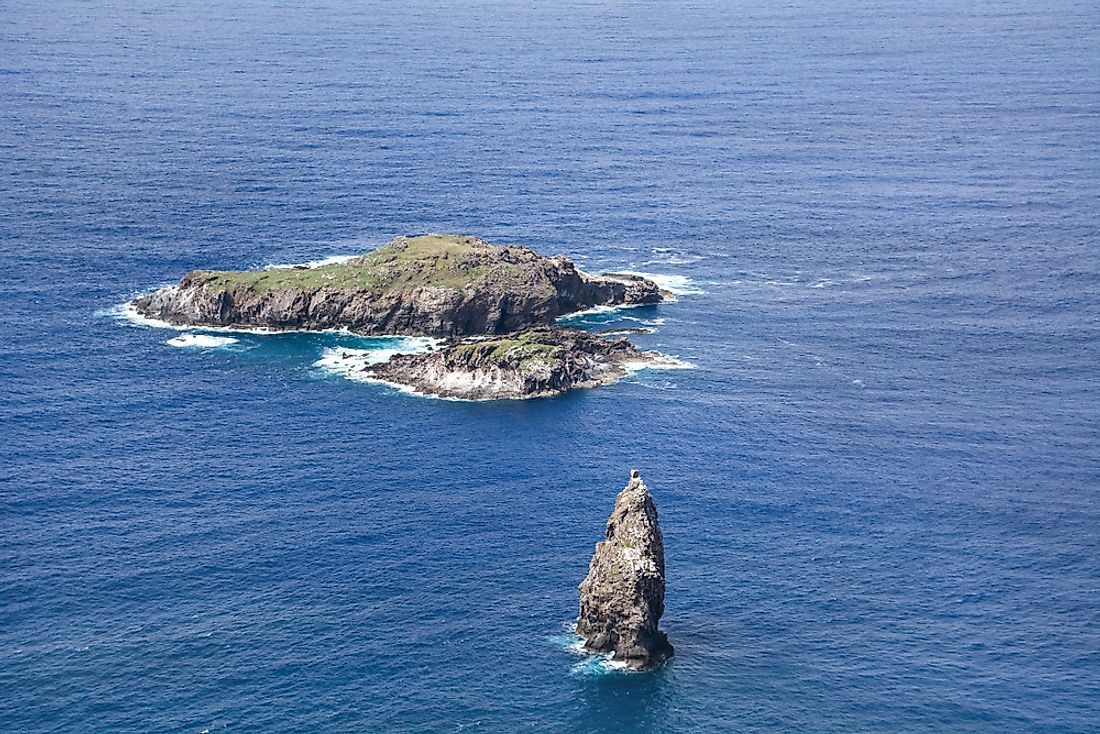 Moto Nui, the westernmost point in Chile.