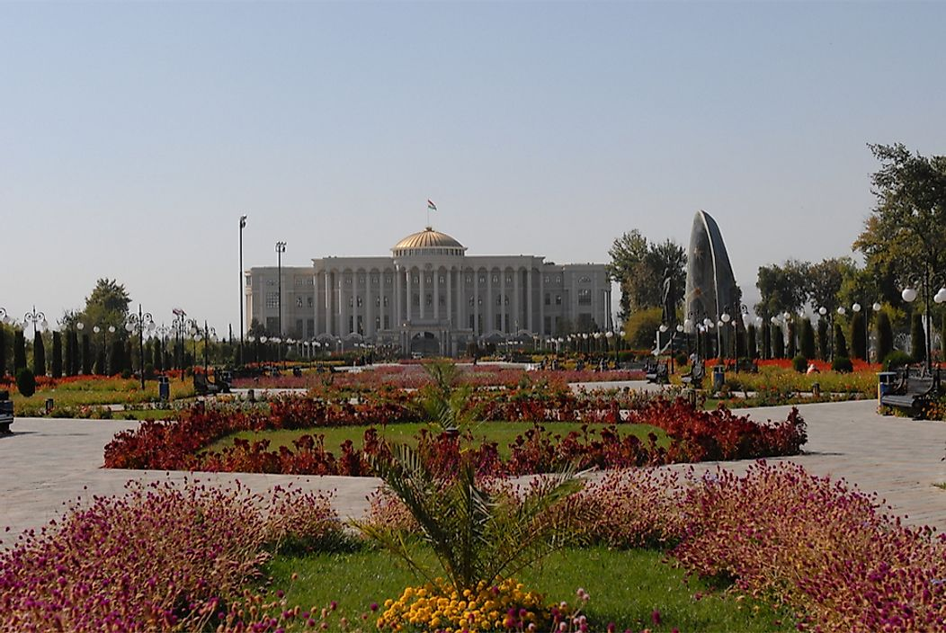 The Palace of Nations in Dushanbe, the capital of Tajikistan.