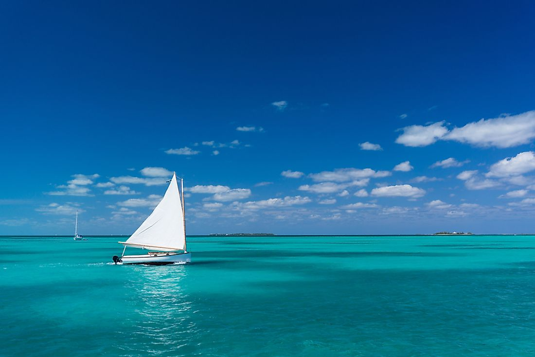 The Caribbean Sea in the Bahamas.