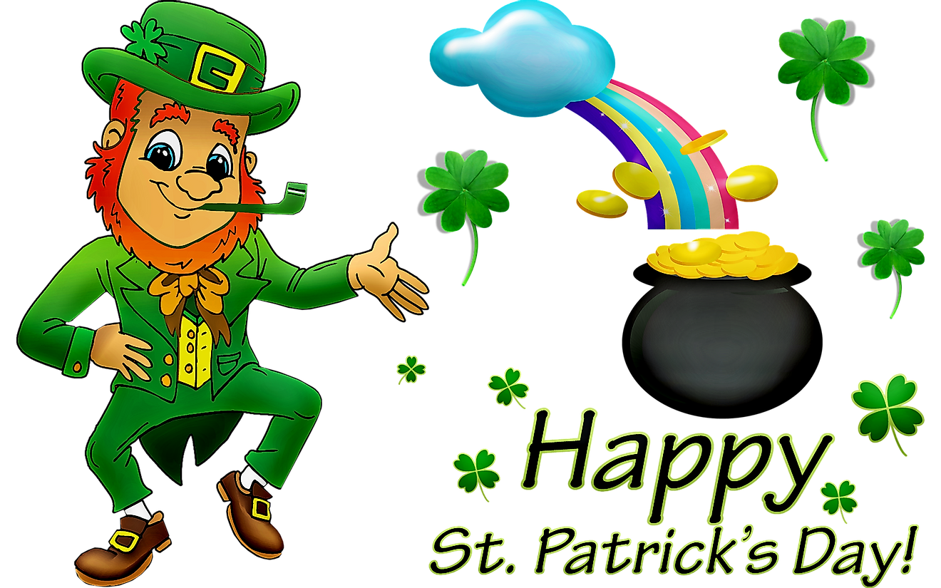 Leprechauns are associated with Saint Patrick's Day because they both trace their history to Ireland.