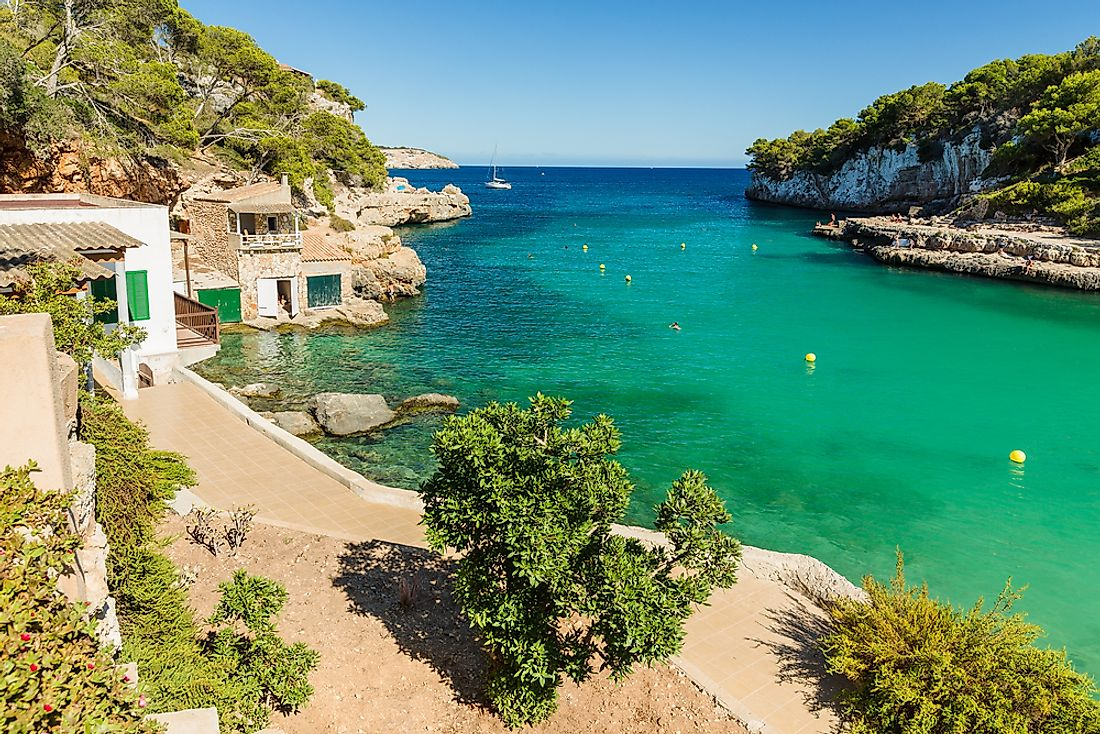 A beautiful beach on the island of Mallorca.