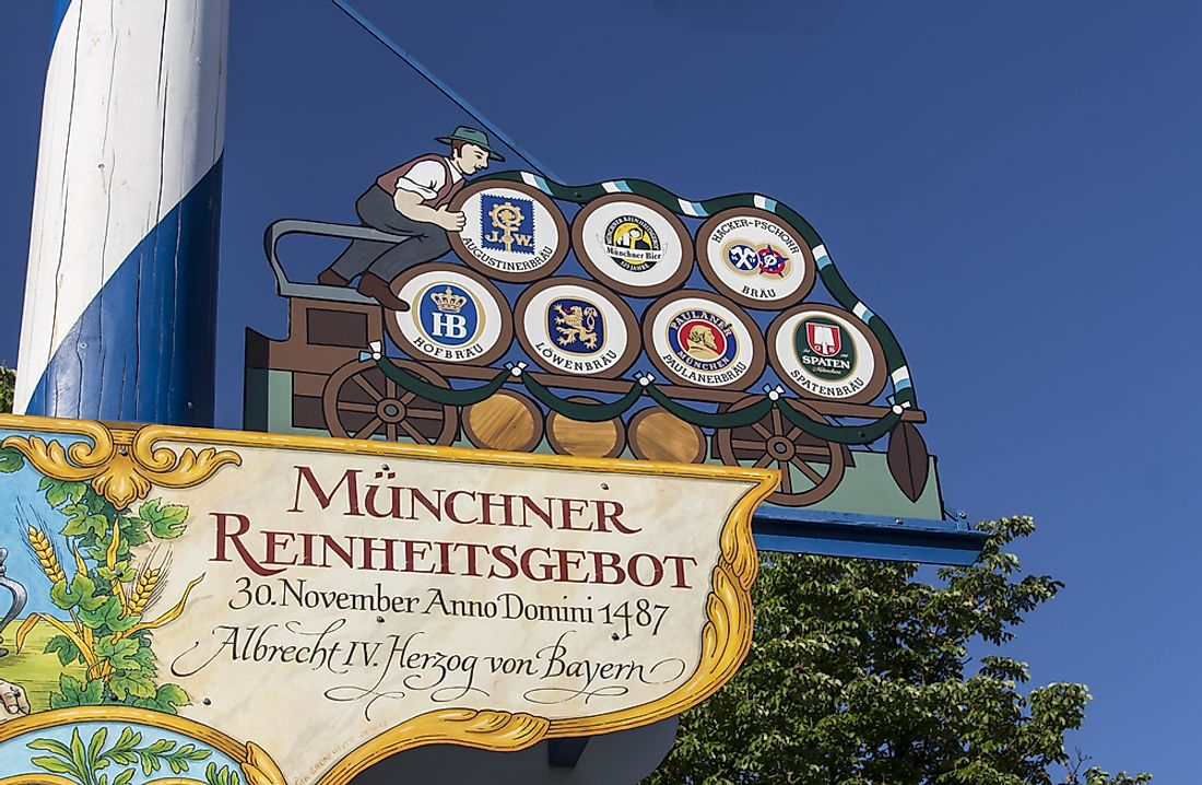 Reinheitsgebot was adopted in 1487 in Munich. Editorial credit: Carso80 / Shutterstock.com
