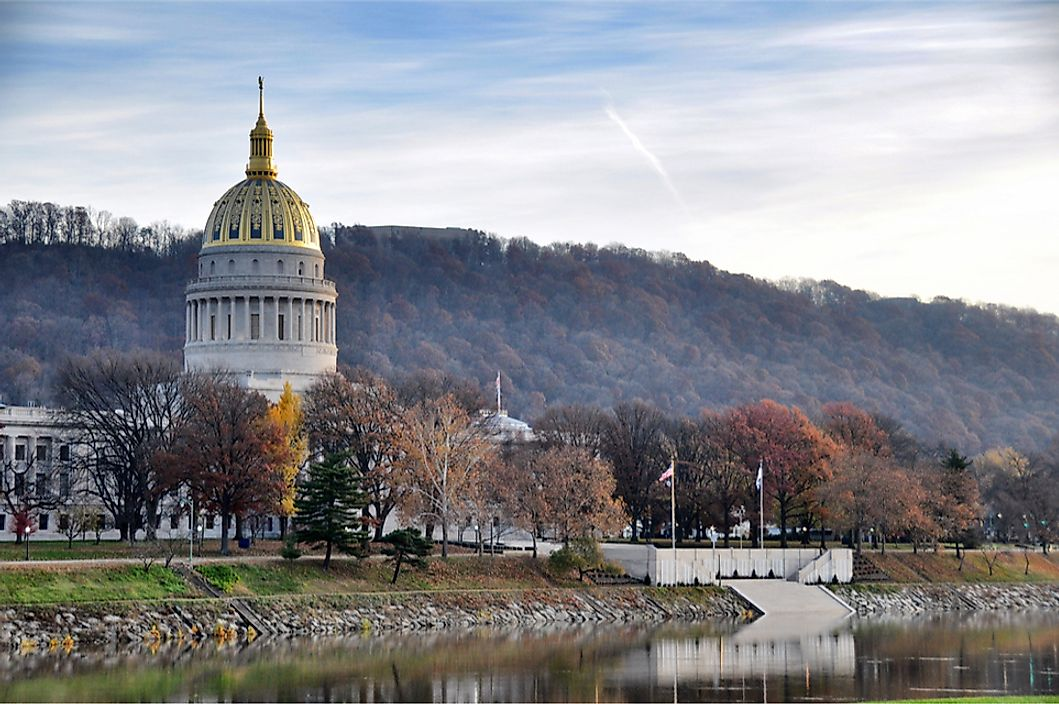 The State Capitol Building in Charleston, West Virginia.