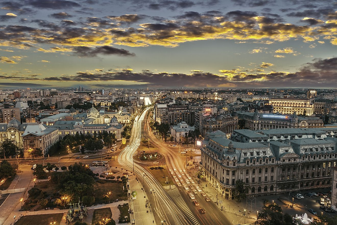 Bucharest, the capital city of Romania.