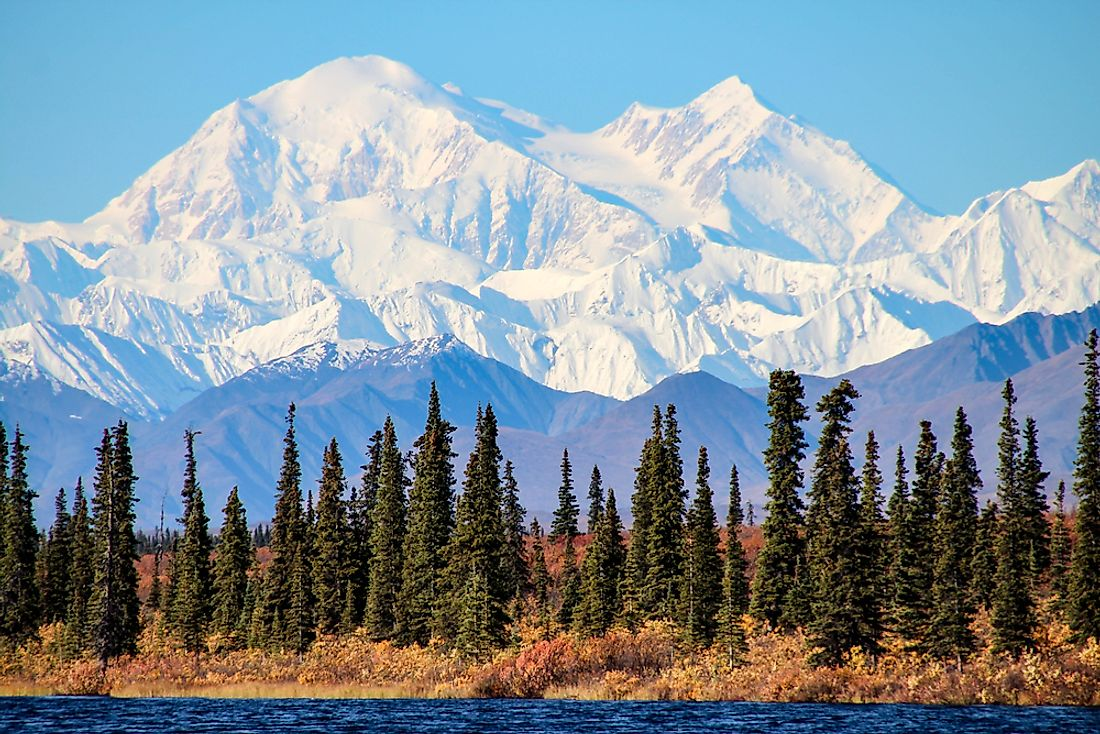 Denali, the highest point in the United States.