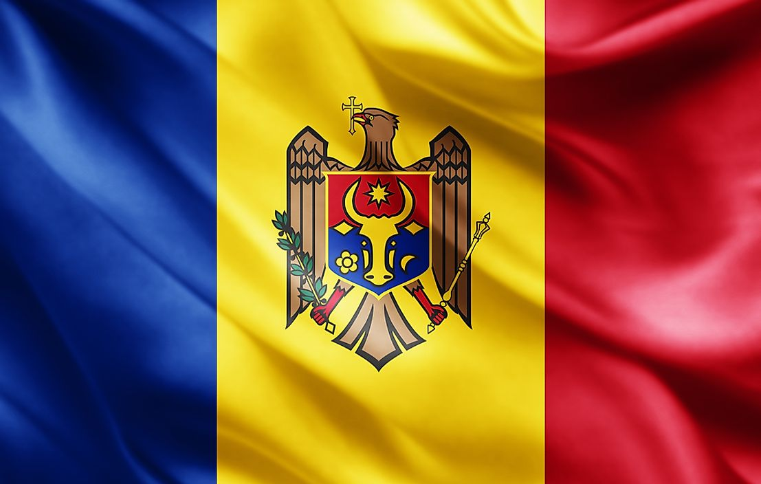 The flag of Moldova.