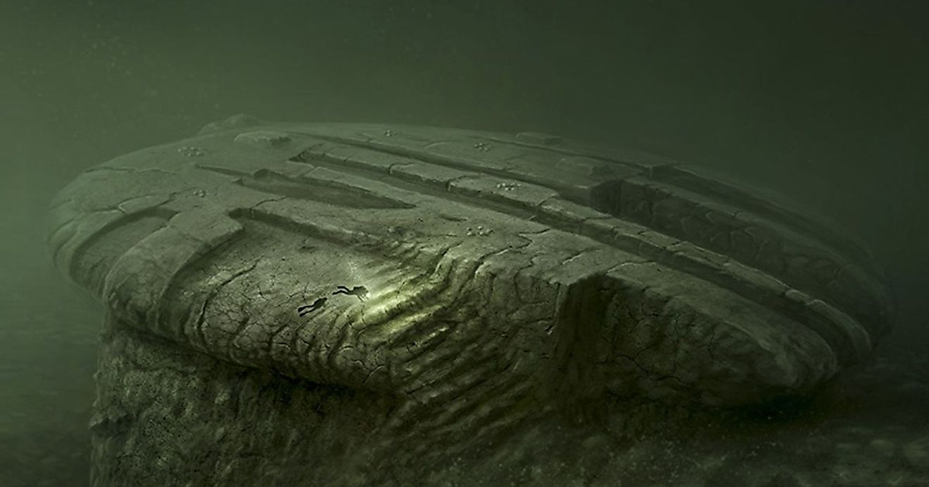 It is a strangely shaped formation, 300 feet deep on the floor of the Baltic Sea off the coast of Sweden. Image credit: sportdiver.com