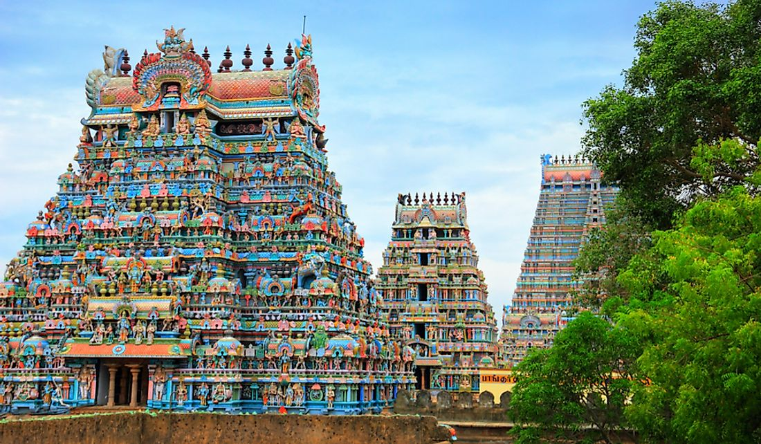 The Jambukeswarar Temple in Tamil Nadu, India.