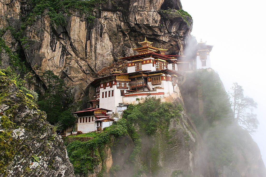 A monastery in Bhutan, the least visited country in Asia.