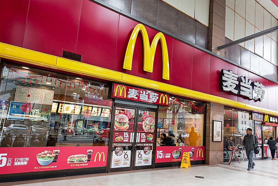 A McDonald's location in Chengdu, China. Editorial credit: testing / Shutterstock.com.