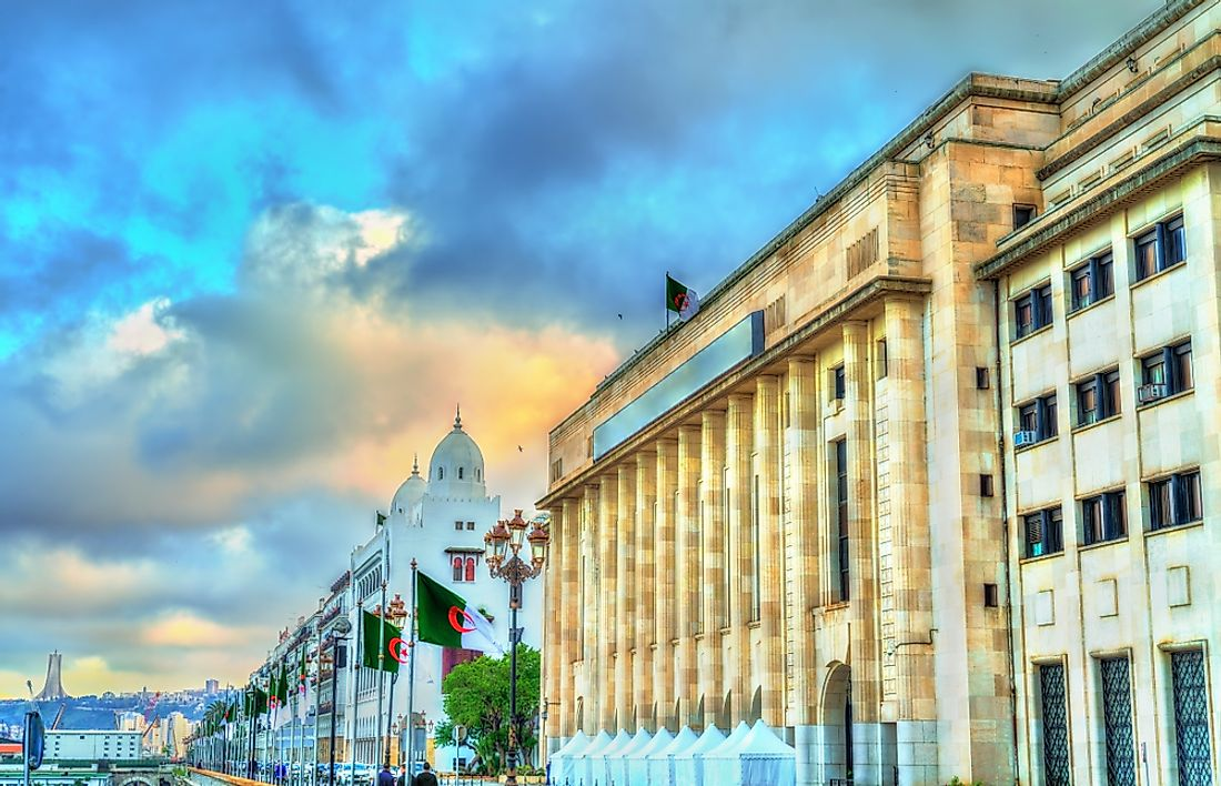 The National Assembly in Algiers.