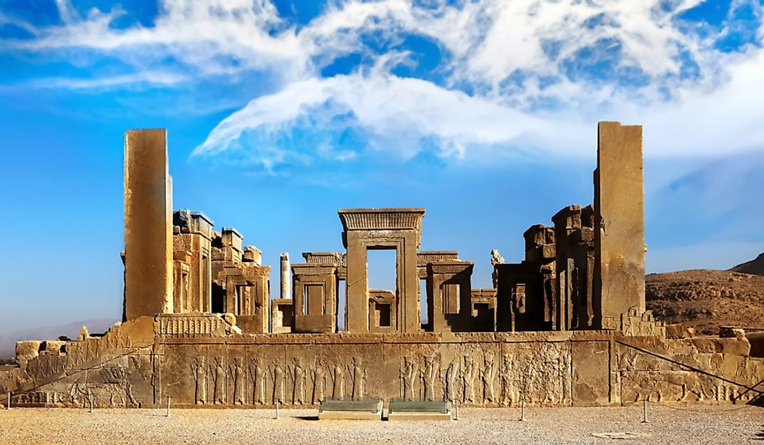 Ruins of Persepolis, the capital city of the Persian Empire.
