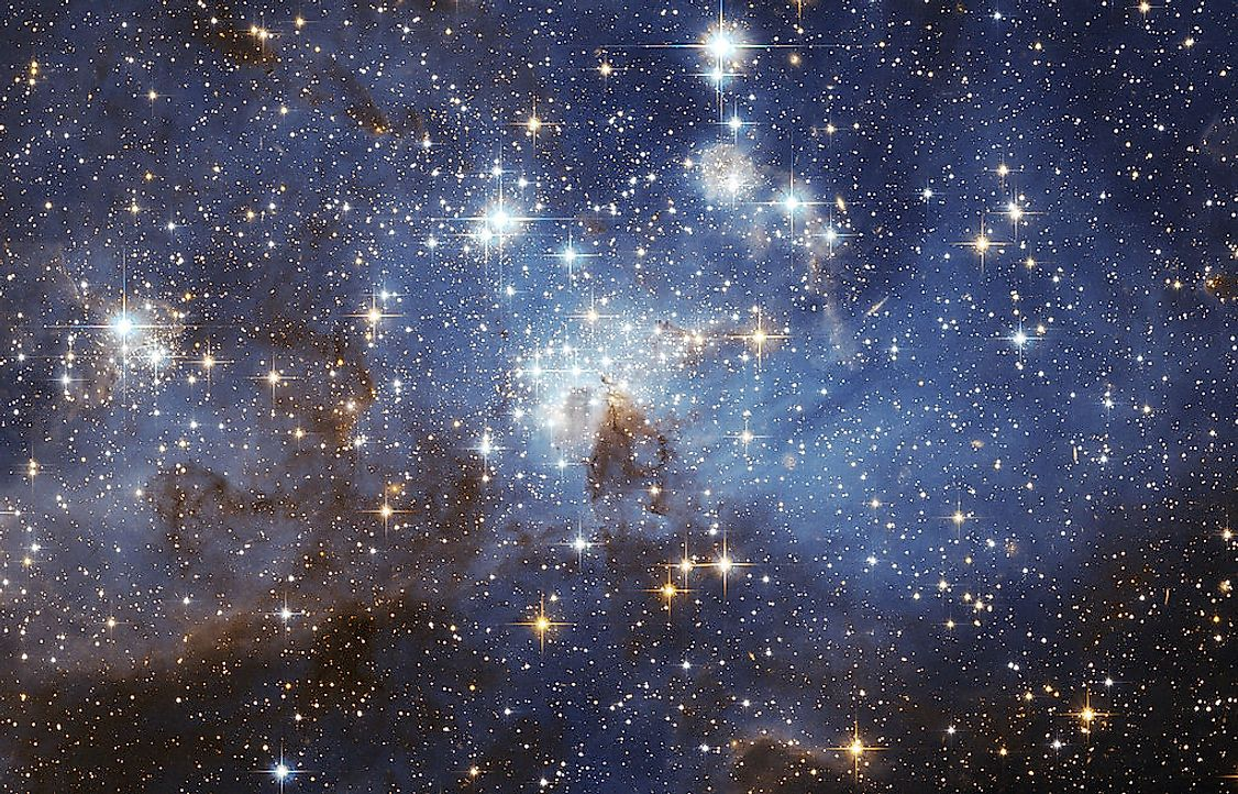 A star-forming region in the Large Magellanic Cloud.