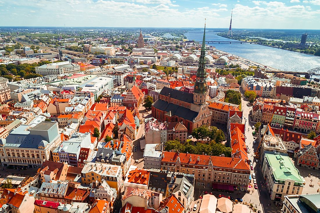 Riga, the capital city of Latvia.