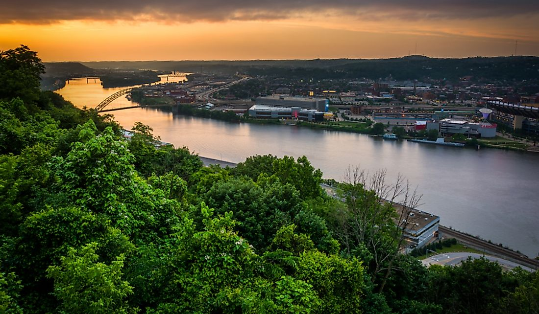 Pittsburgh, Pennsylvania on the bank of the Ohio River.