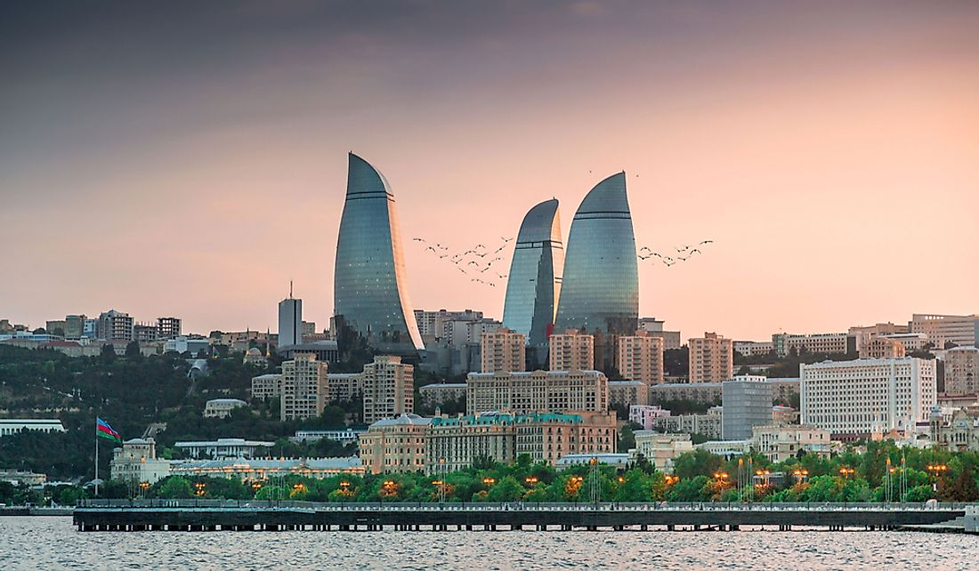 The Flame Towers of Baku, Azerbaijan.