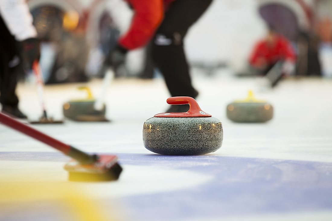 Curling is a particular sport popular in Canada.