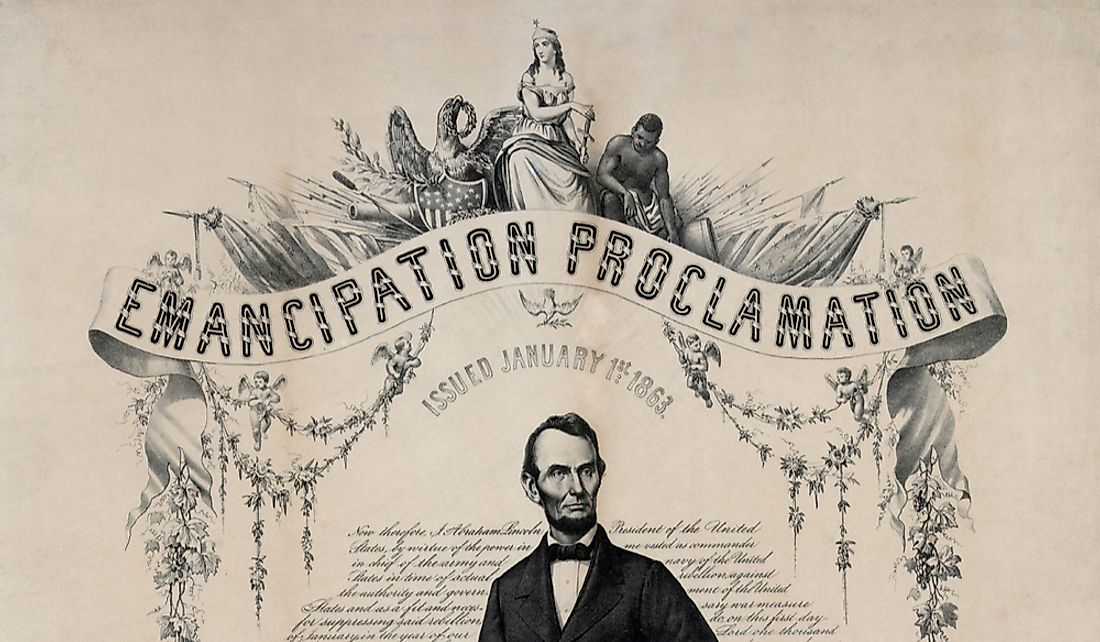 President Lincoln passed the Emancipation Proclamation in 1863.