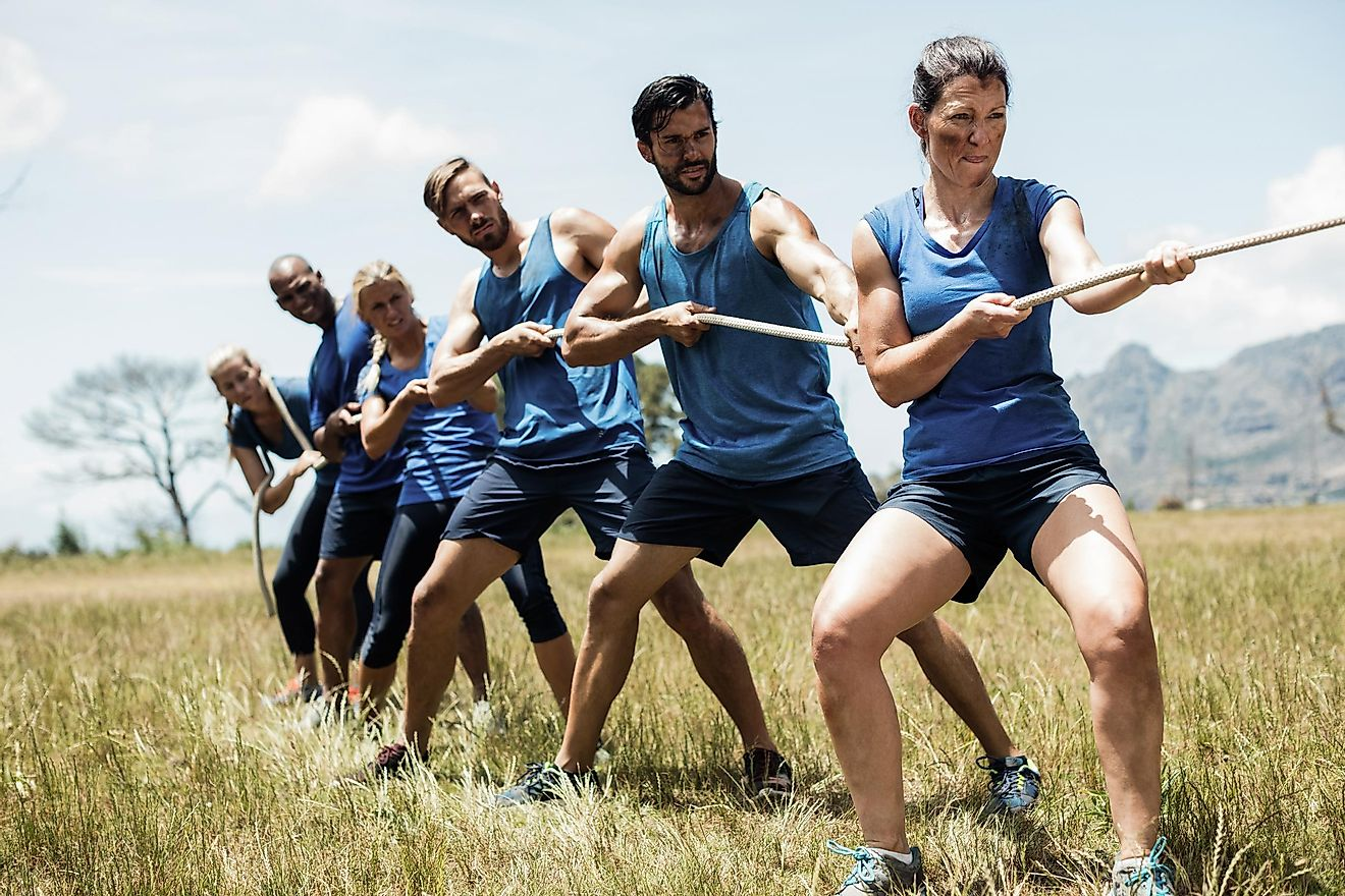 Tug of war was an official summer olympic sport up until 1920. Image Source: Shutterstock