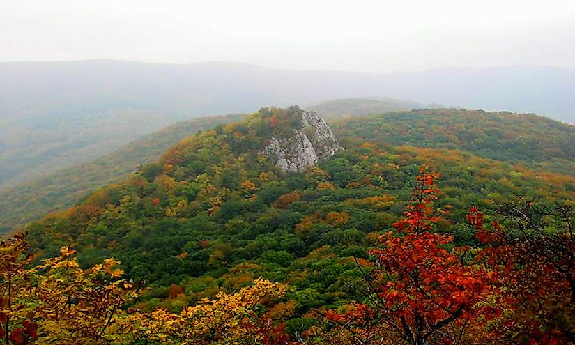 Autumn colors in the Bükk Mountains of Hungary.