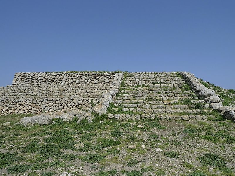 The Monte d'Accoddi altar, on the Italian island of Sardinia, was constructed around 6,000 years ago.