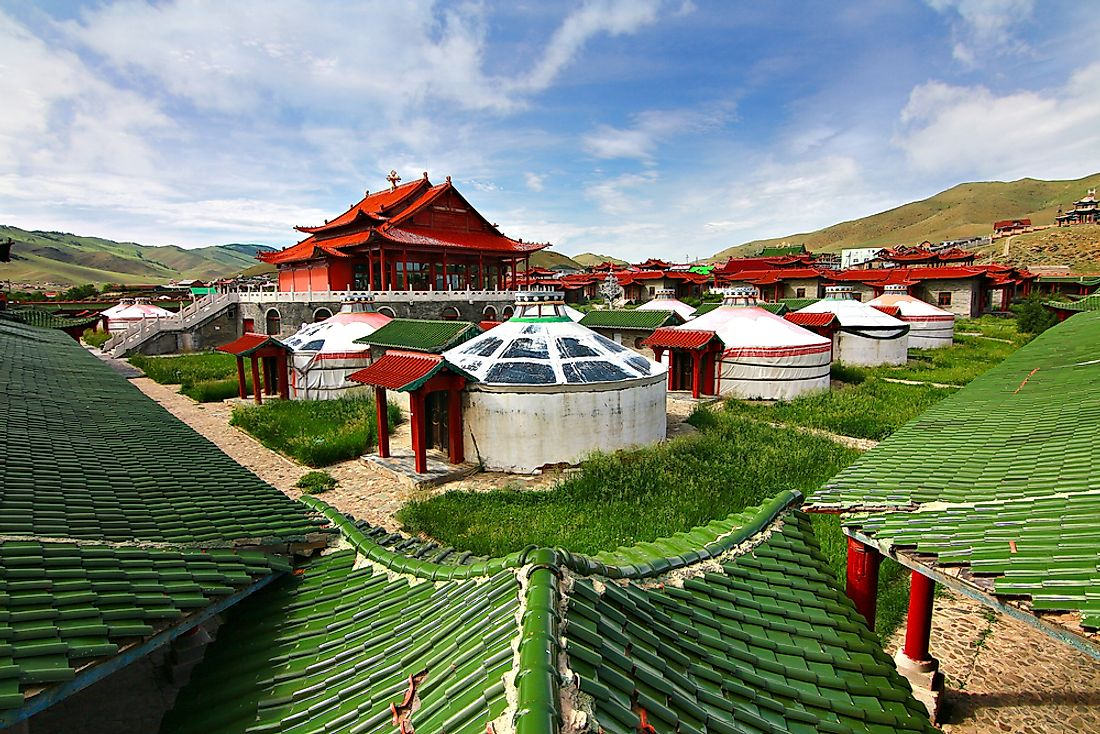 A ger camp, which is a type of accommodation available in Mongolia.