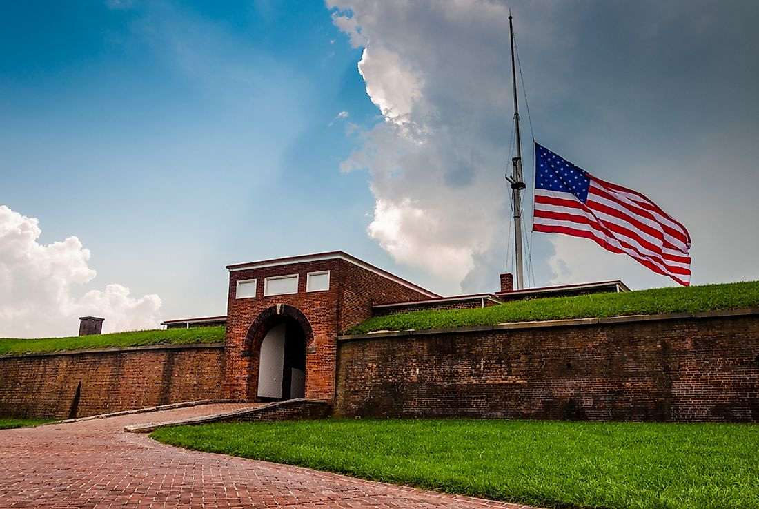 The British siege of Fort McHenry during the Battle of Baltimore inspired Francis Scott Key to write the lyrics of America's National Anthem.