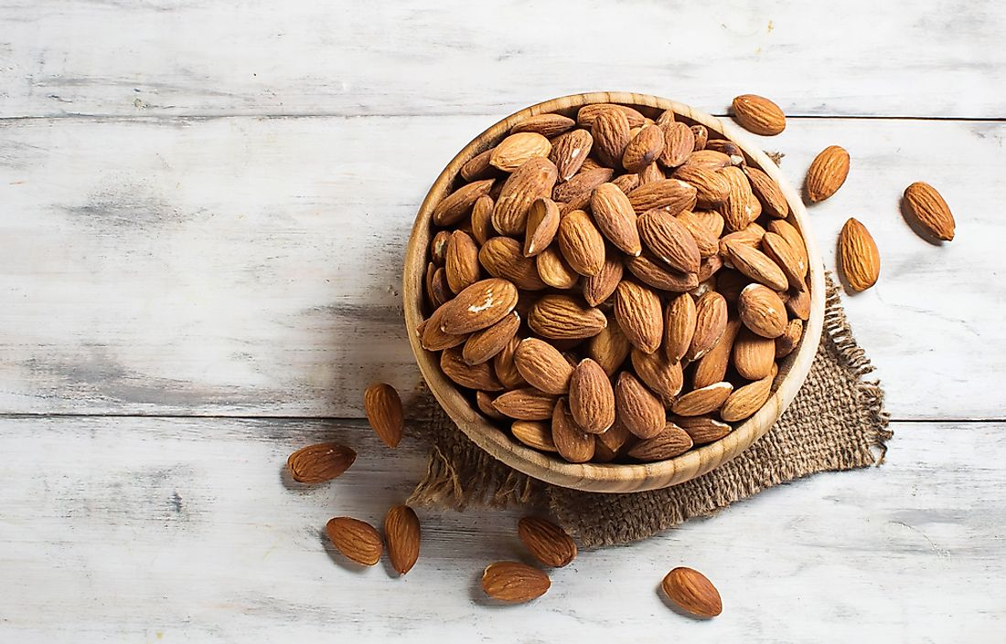 Almonds are the most commonly consumed nut in the world.