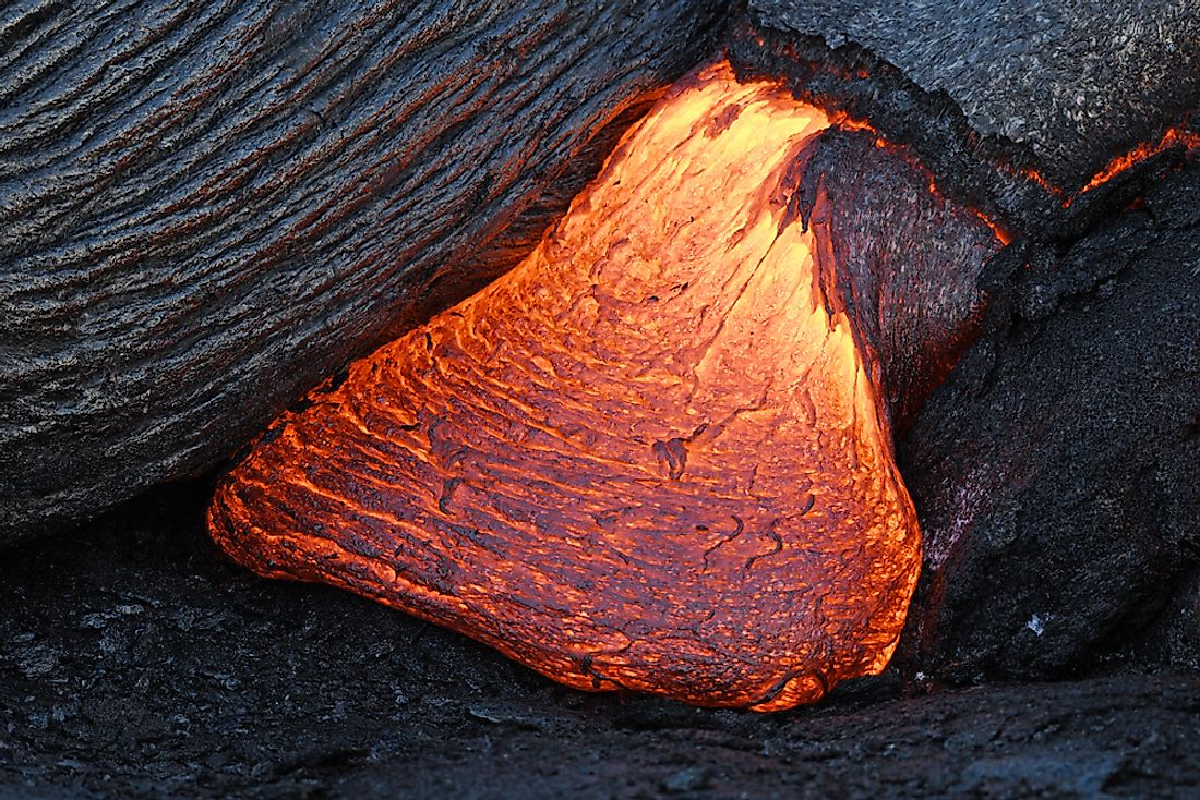 When magma is ejected to the surface of the earth is is known as lava.