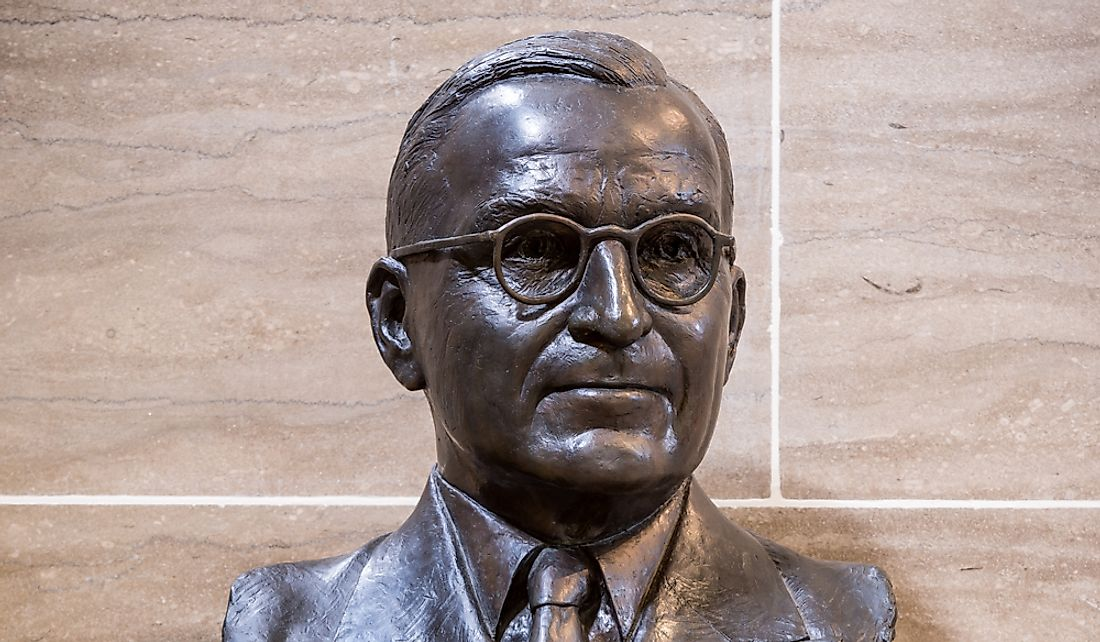 Bust of Harry S. Truman the 33rd American President. Editorial credit: Nagel Photography / Shutterstock.com
