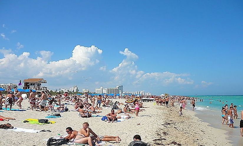 The Miami beaches offer a source of relaxation and entertainment to the people of Miami.