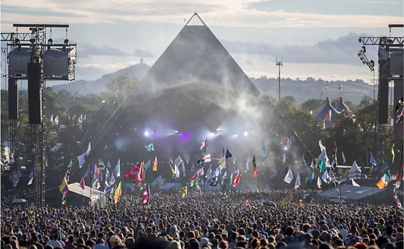 Glastonbury Music Festival in Glastonbury, United Kingdom. Editorial credit: marietta peros / Shutterstock.com