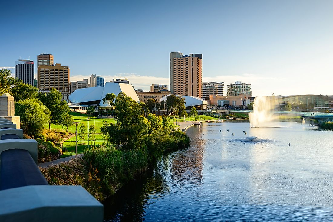 The largest city in South Australia is also its capital.
