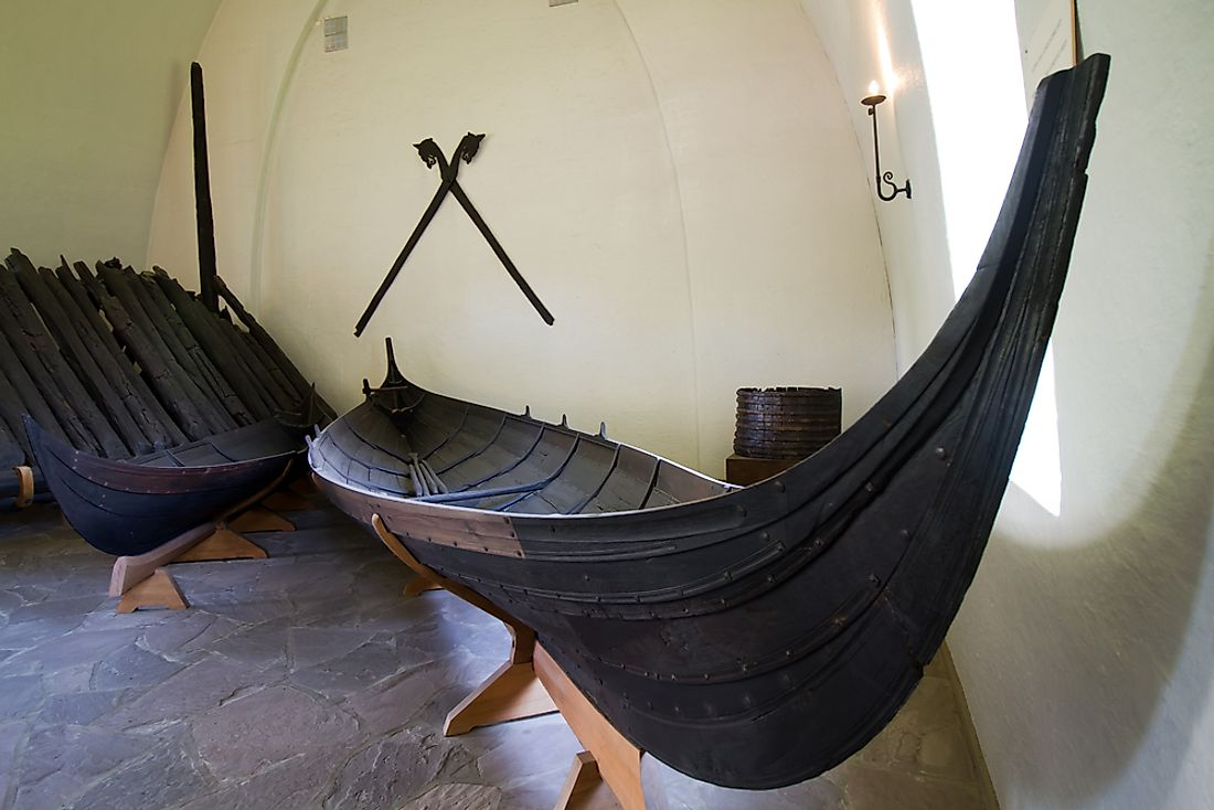 The interior of the Viking Ship Museum, one of Norway's forefront cultural attractions.