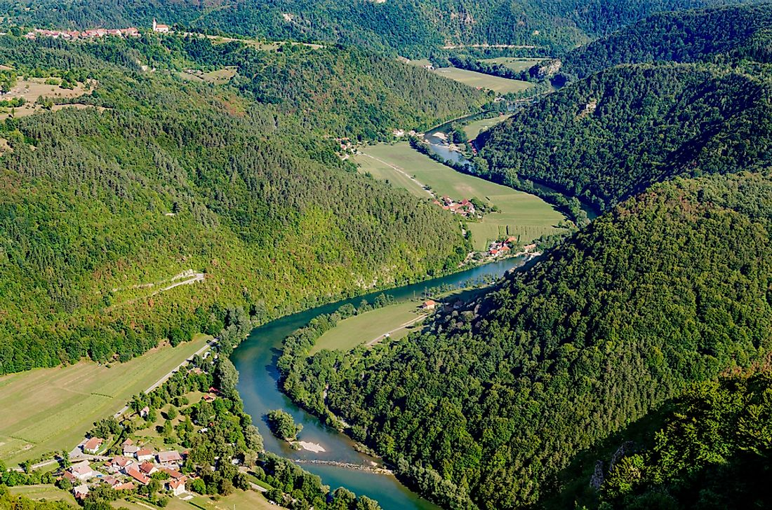 The Kupa River marks the border between Croatia and Slovenia.