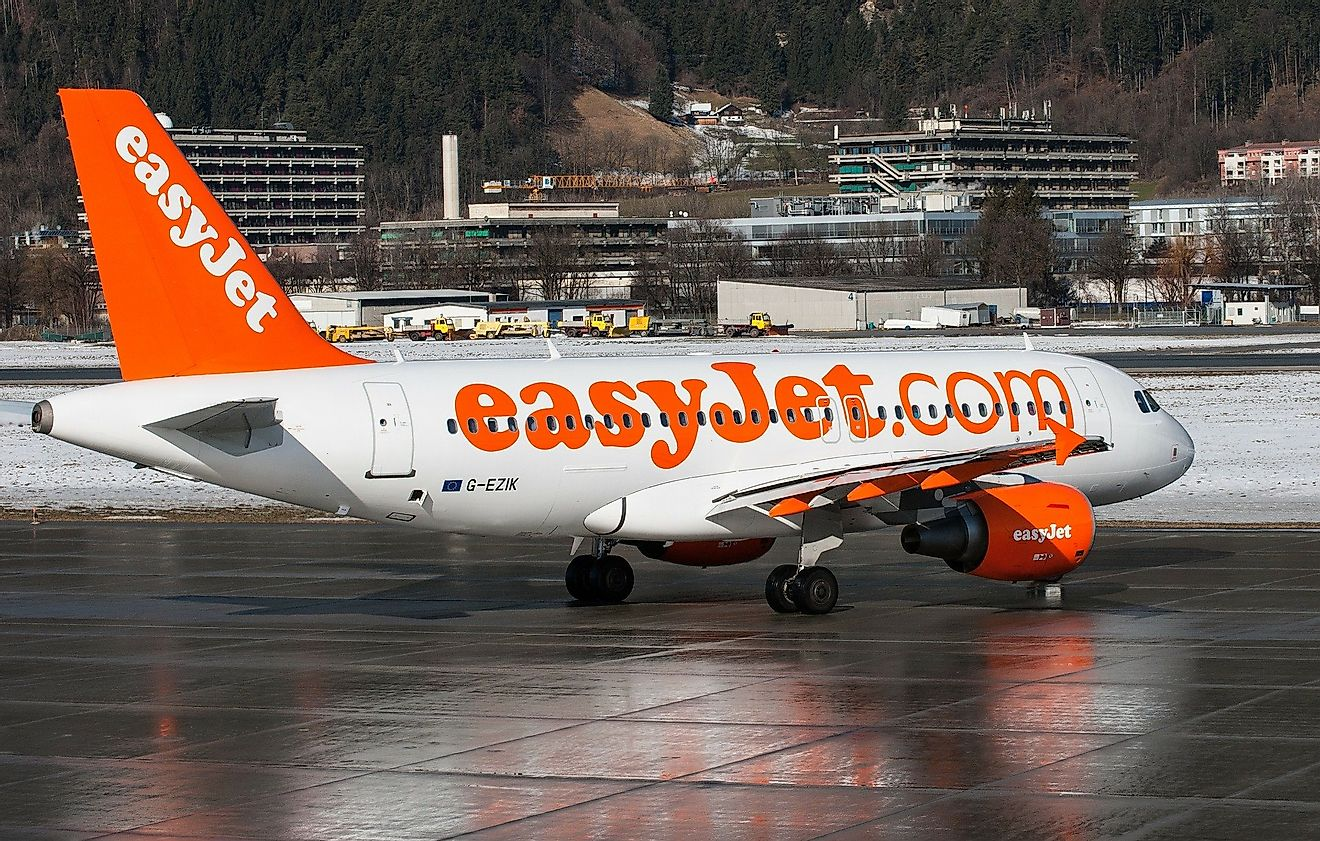 EasyJet is one of the world's most popular budget airlines. Image credit: David Mark from Pixabay .