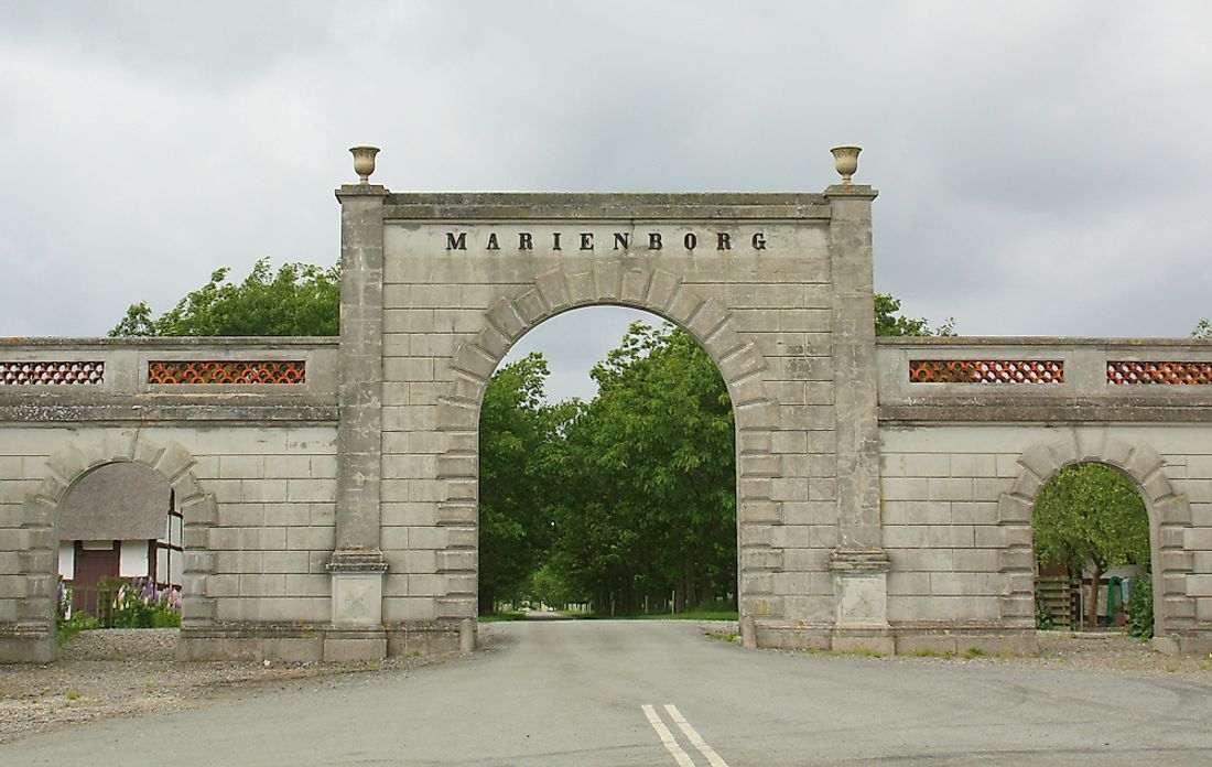 Entrance to Marienborg. Editorial credit: Douwmamaria / Shutterstock.com.