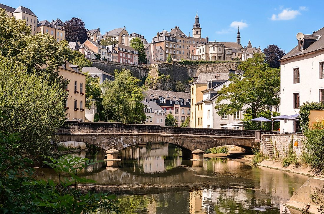 Luxembourg City in Luxembourg, ranked as Europe's richest country.