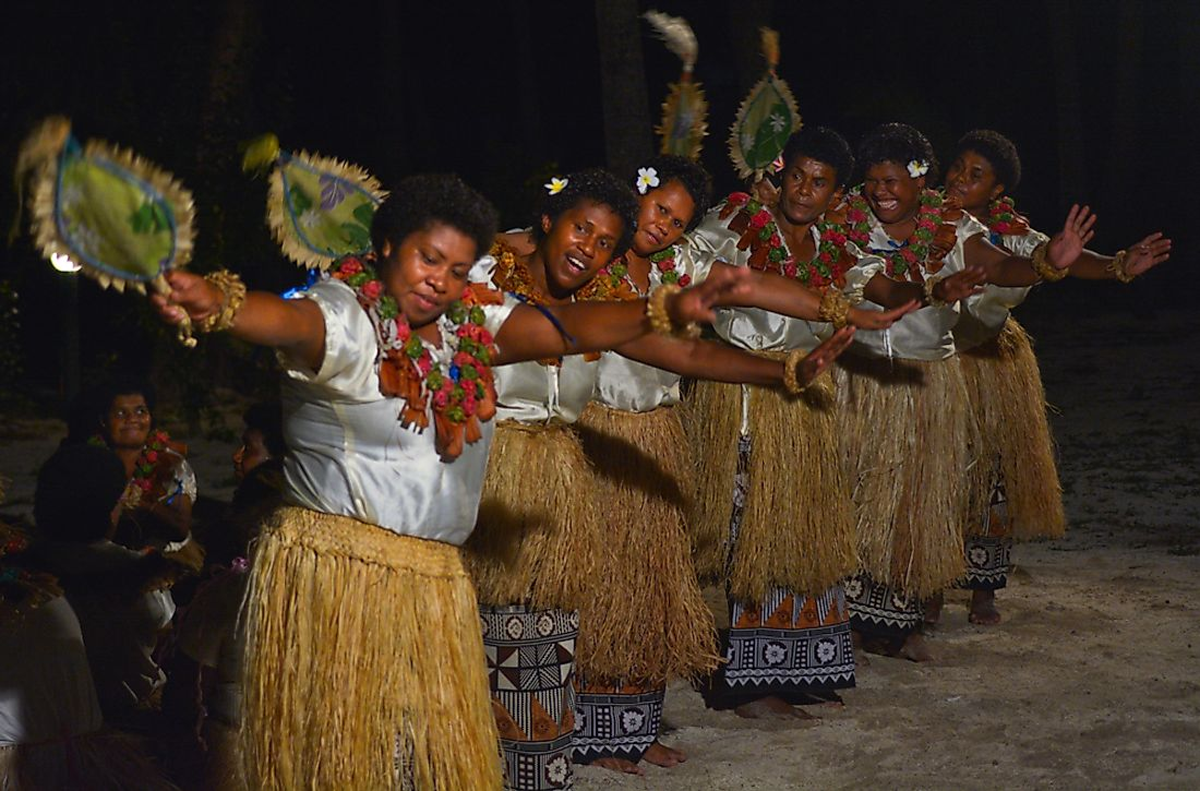 Traditional dancers from Fiji.