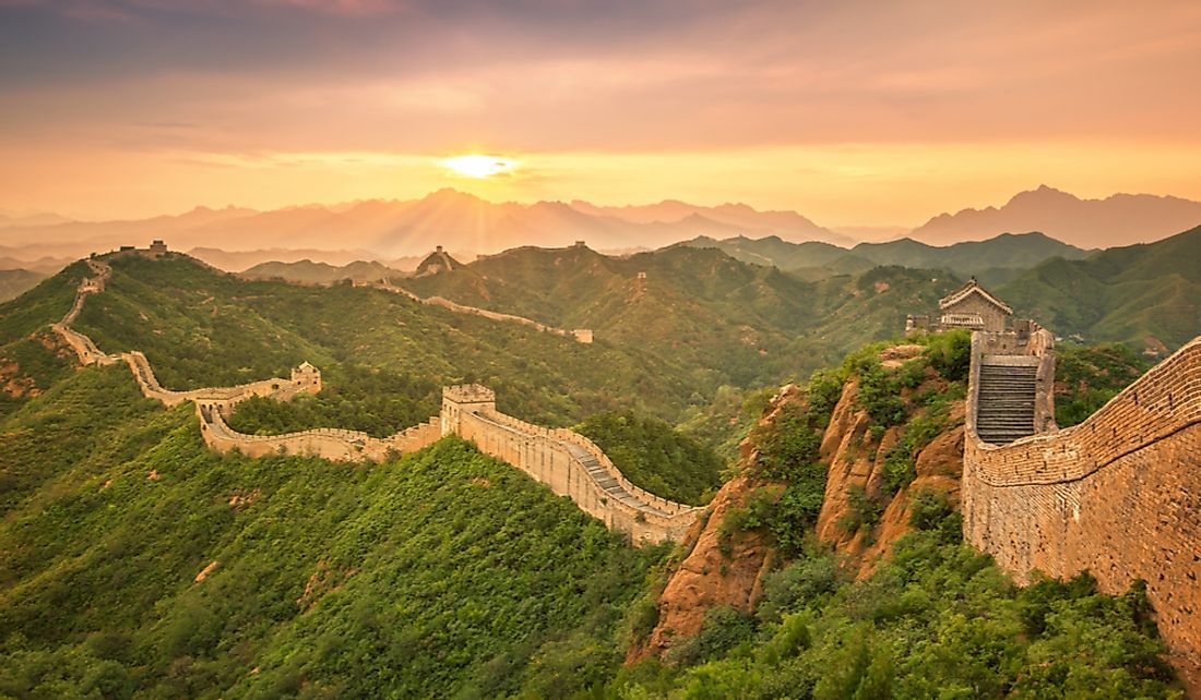 The Great Wall of China was constructed over many centuries.