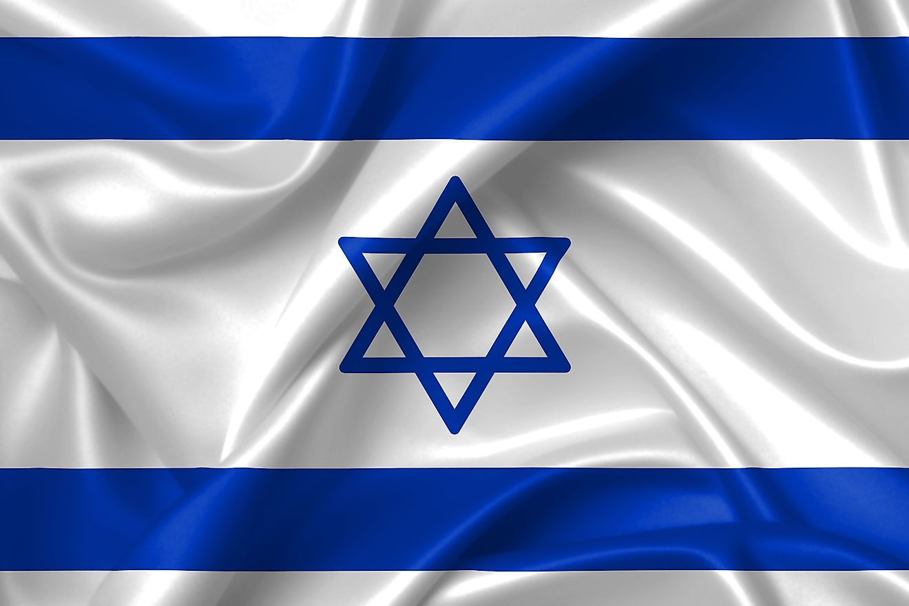 The official flag of Israel.