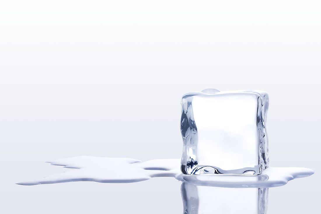 The Law of Conservation of Mass can be explained using a melting ice cube.