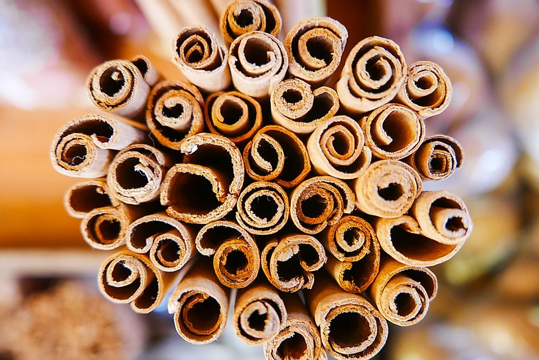Cinnamon sticks for sale in Seychelles.