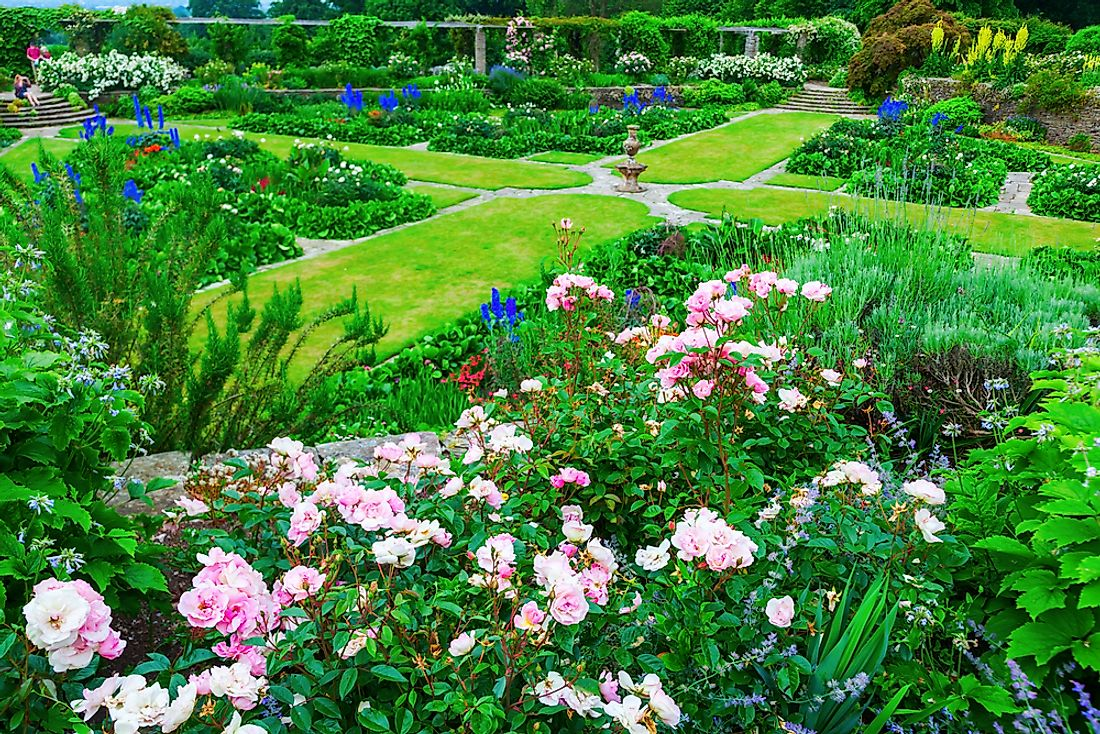 Hestercombe Garden is the signature flower garden and well-known legacy of Gertrude Jekyll. Editorial credit: Christian Mueller / Shutterstock.com