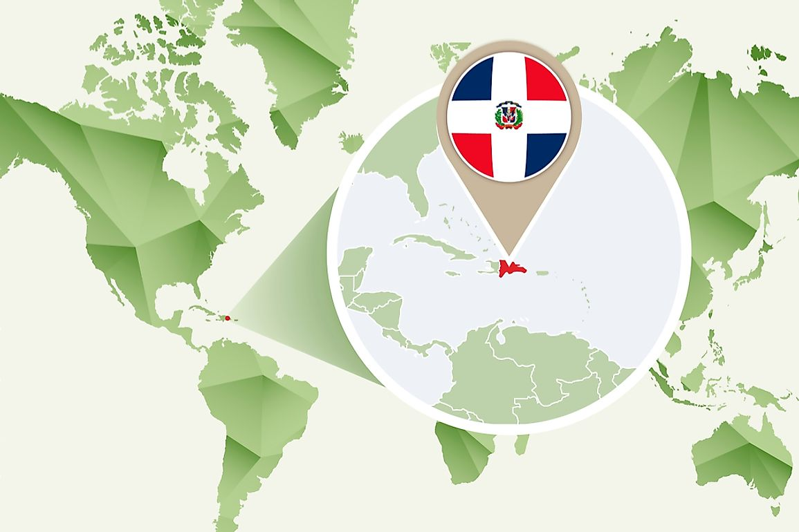 The Dominican Republic shares the Caribbean island of Hispaniola with the Haiti.