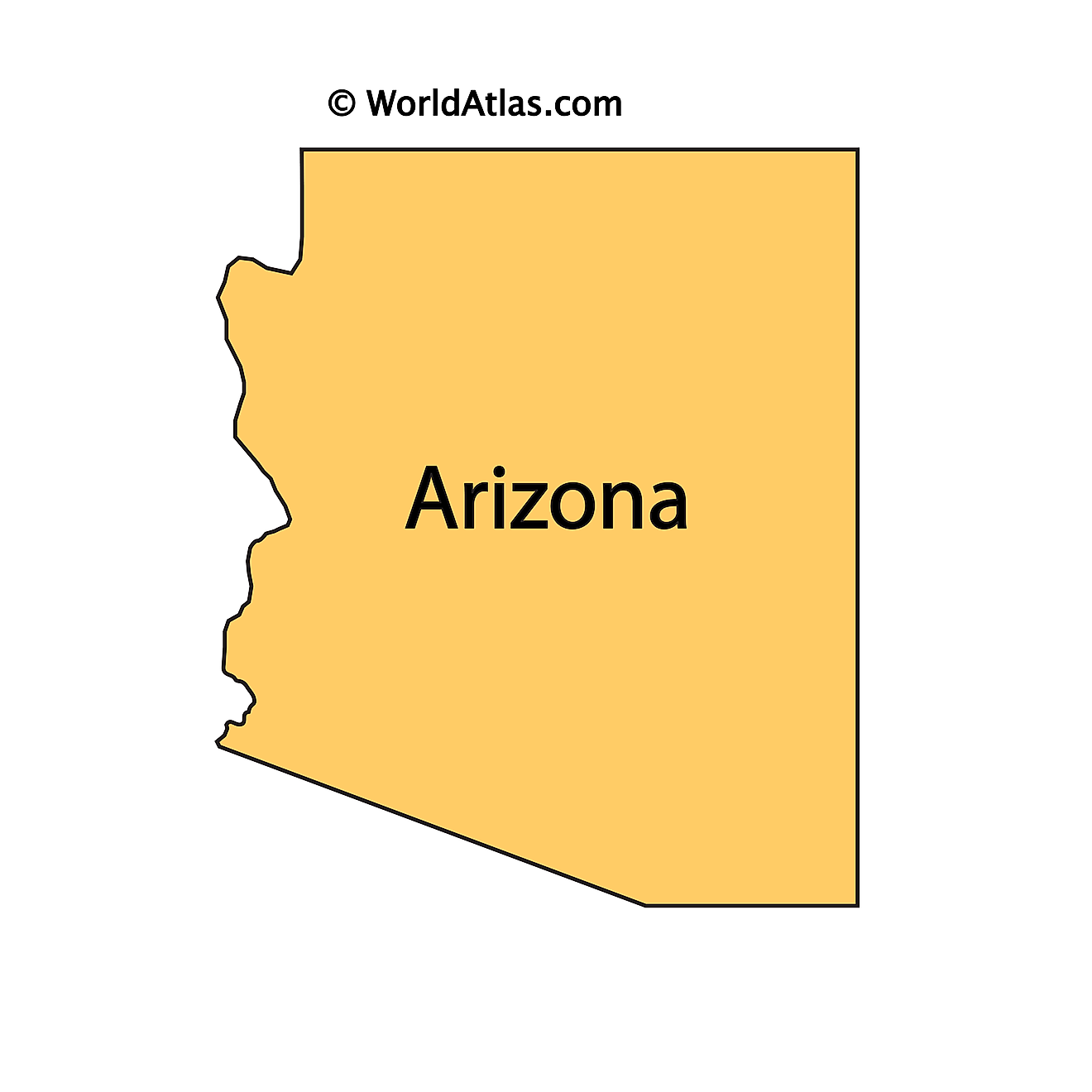 Outline Map of Arizona