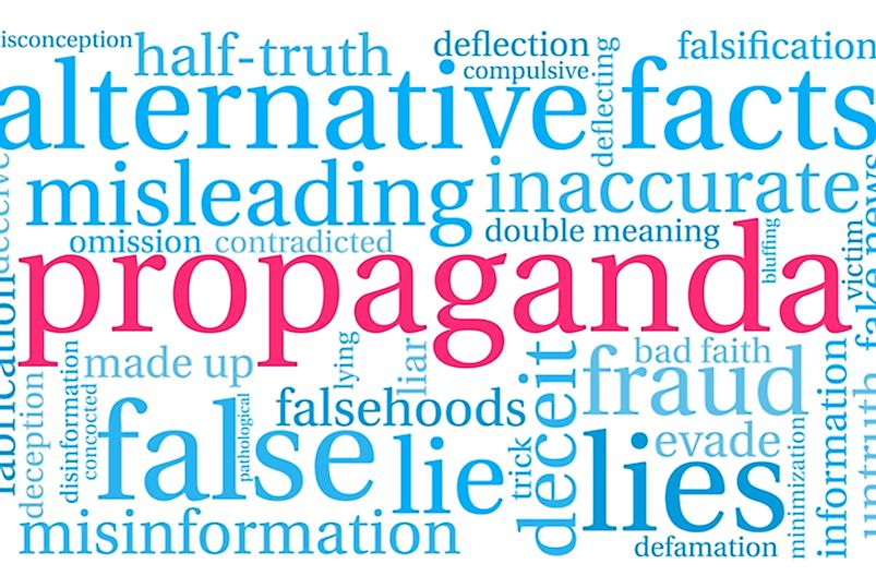 Over the past two centuries, propaganda gained prominence as a means of spreading misleading political ideas.