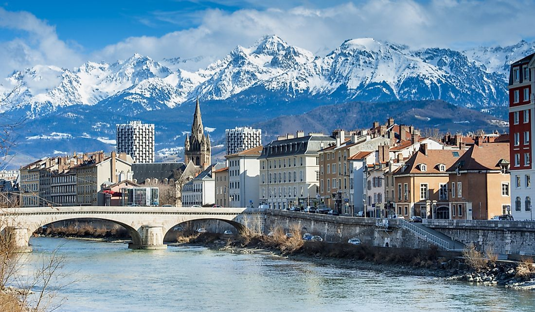 Grenoble is the largest city in the Alpine region.